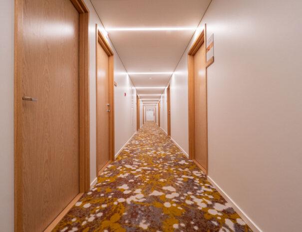 Centrumi hotelli koridor